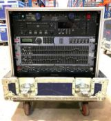 DESCRIPTION AUDIO SERVER RACK W/ ROAD BOX (SEE INFO FOR WHAT KIT INCLUDES) ADDITIONAL INFORMATION IN
