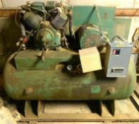 DESCRIPTION: 110 GALLON AIR COMPRESSOR W/ LINCOLN 10 HP MOTOR ADDITIONAL INFORMATION: PHASE 3 | 230/