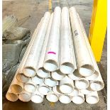"DESCRIPTION: (27) 5' PVC PIPES SIZE: 4""X60"" THIS LOT IS: ONE MONEY QTY: 1"
