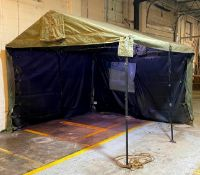 "DESCRIPTION: MILITARY TENT WITH FRAME SIZE: 128""X108""X96""' QTY: 1"