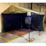 """DESCRIPTION: MILITARY TENT WITH FRAME SIZE: 128""""X108""""X96""""' QTY: 1"""