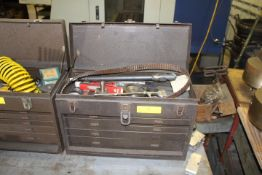 KENNEDY TOOL BOX W/ MISC TOOLS