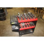 TOOLING CART W/ CAT 40 TAPERS
