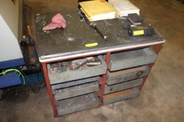 WORK BENCH WITH SLIDE OUT DRAWERS
