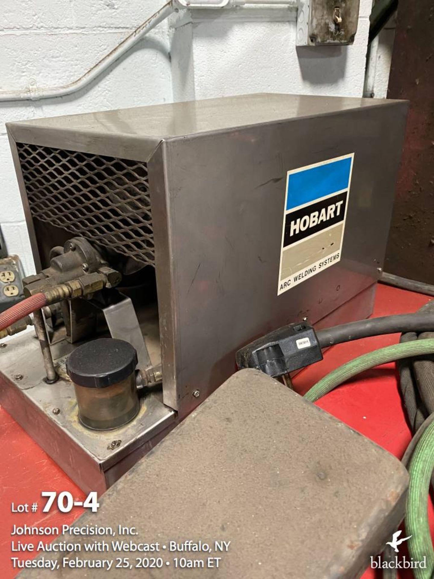 Lot 70 - Lincoln square wave TIG-350 welder, Hobart cooler