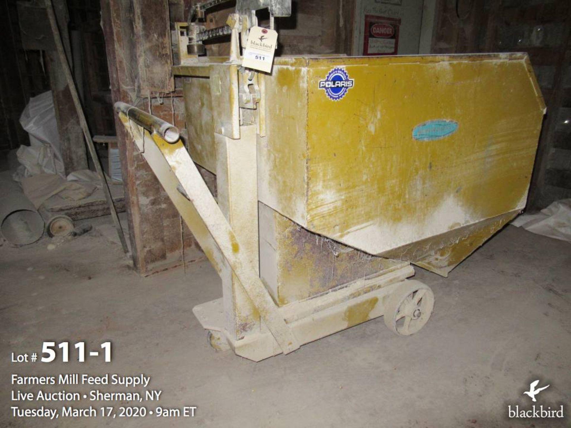 Lot 511 - BURROWS scale dump hopper 1000 LB.