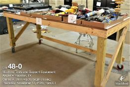 Shop table W/casters 39 in x 96 in