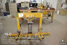 Vacuum Lift, Woods Power Grip, Mdl - PT10 HV11, equipped with 10 pneumatic 10 in. diameter pads