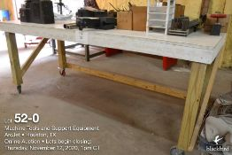Shop table w/casters 39 inch x 96 inch