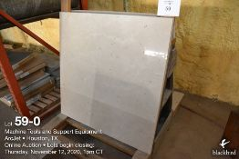 (Lot): (2) 3MM Marble slabs, 39 3/4 inch x 39 3/4 inch Cerama-Marfil Marble