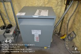 Transformer, Federal Pacific cat T48LH2D-45, dry 45KVA, step down 480 volt primary to 240/120 volt