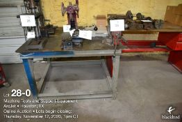 Metal Shop Table 4 ft x 4 ft w/bench vice (tilting)