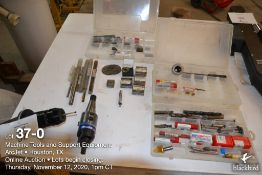 (Lot): Renishaw Ruby stone probe CAT-50 taper, 40 NST Maxi Bore adjustable boring head w/assorted en