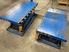 (2) Hydraulic Lift Tables - Niagara Support Equipment