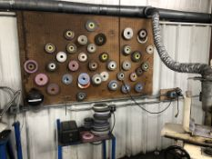 Lot of Misc Grinding Wheels with Demagnetizer