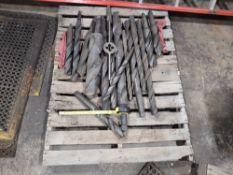 skid of Large Drills