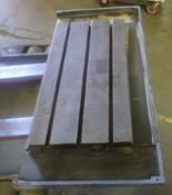 "43"" x 21"" T-SLOTTED STEEL TABLE"