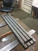 "42"" x 9"" T-Slotted Table"