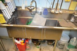 Stainless Steel 3-Compartment Sink with Right Hand Drain Board
