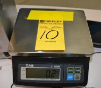 CAS SW-10 Electronic Scale, Capacity 10 x 0.005lb