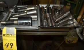 Lot - (15) R8 Collets, (6) R8 Endmills, Holders & Drill Chuck