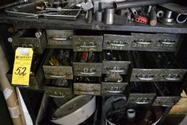 Lot - (18) Drawers with Drills, Endmills, Taps, Reamers, Etc.