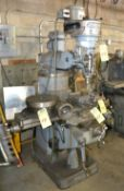 Bridgeport Milling Machine, Spindle Speed, with Power Feed 12/BR 117264, S/N J-118897