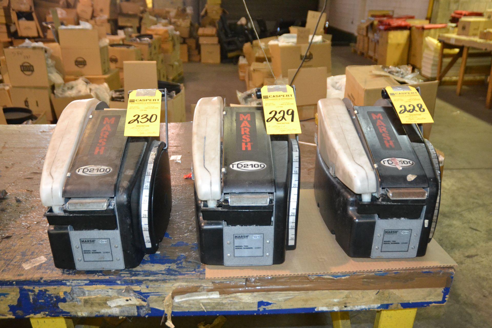 Lot 228 - Marsh TD2100 Manual Tape Shooter