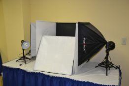 LOT - 5 Pc. Fotodiox Lighting/Camera Set