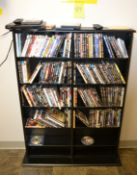 Lot - Sony CD/DVD Player with DVD's & Bookcase