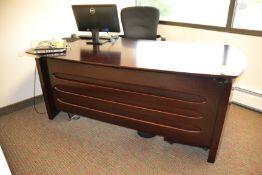 """Wood Desk, 34"""" x 72"""""""