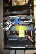 Lot - Electronics Rack (Xtreme Power Conversion, TP-Link 16-Port Switch, Avaya IP Office 500 V2,