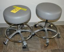 Dexta 263 Adjustable Rolling Stools with Casters