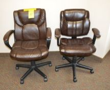 Rolling Swivel Arm Chairs