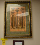 """Framed Art Work, 29"""" x 39"""""""