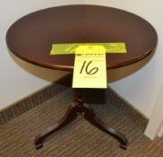 """Oval Wood Side Table, 14"""" x 19"""""""