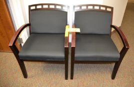 Wood & Upholstered Arm Chairs