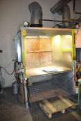 """Spray Booth with Exhaust, 86""""H x 64""""L x 60""""W"""