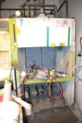 """Spray Booth with Exhaust, 86""""H x 52""""L x 60""""W"""