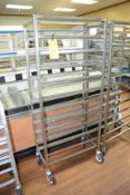 12-Tray Steel Rolling Racks