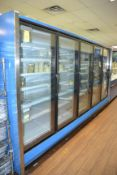 Hussmann 5-Door Glass Door Freezer Case, M: RLN-5