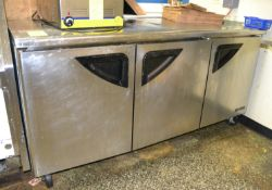 Turbo Air 3-Door Low Boy Refrigerator, M: TUR72SD