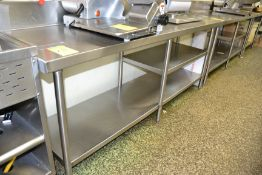 "Marlo Stainless Steel Prep Table w/ Lip, 24"" x 82"""