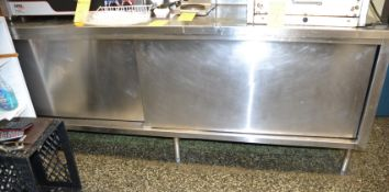 "Stainless Steel Cabinet 31"" x 96"""