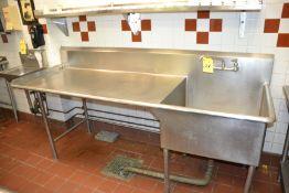 1-Compartment Sink w/ Left Hand Drain Board