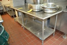 """Stainless Steel Prep Table, 30"""" x 96"""""""