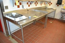 """Stainless Steel Prep Table, 36"""" x 72"""""""