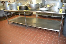 """Stainless Steel Prep Table, 48"""" x 120"""""""
