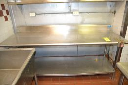 """Stainless Steel Prep Table, 30"""" x 82"""""""