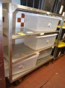 Rolling Stainless Steel 4-Shelf Cart